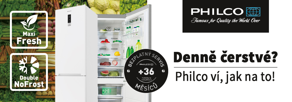 Philco lednice denně čerstvé