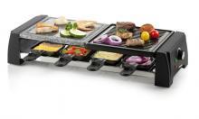 Raclette gril 2v1 - DOMO DO9190G, pro 8 lidí, 1200W