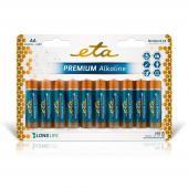 Baterie AA ETA PREMIUM ALKALINE AA, LR06, blistr 10ks