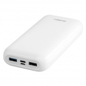 Power bank GoGEN 20000 mAh,  (PB200006W) USB-C PD 18W bílá