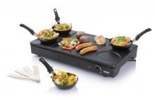 Lívanečník DOMO DO8712W - A gril s wok pánvemi