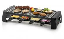 Raclette gril 2v1 - DOMO DO9189G, pro 8 lidí